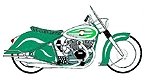 drawing of Vincent Indian style decker motorcycle