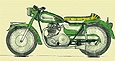 drawing of customized Norton Atlas motorcycle