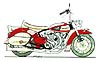 drawing of Ducati decked out like a Harley