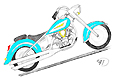 drawing of slightly customized Yamaha Road Star