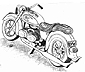 drawing of BMW motorcycle with VW engine