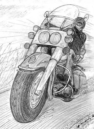 Vee Power drawing of 1960's Harley no. 30