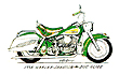 pencil drawing of 1964 Harley Duo-Glide panhead nearly stock